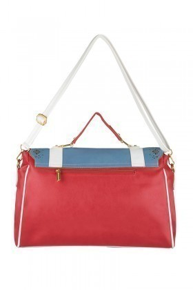 OB Kırmızı-Mavi-Beyaz CP-205-102102 Bayan Çanta