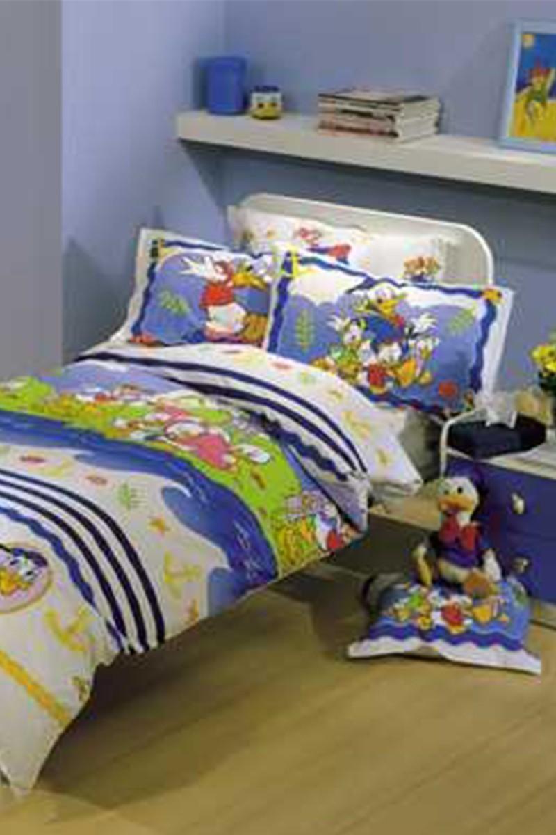 Taç Mavi DD-18701823 Disney Nevresim Takımı Denizci Donald Duck