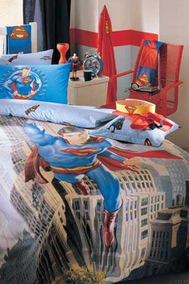Taç Mavi DD-18705491 Disney Nevresim Takımı Superman