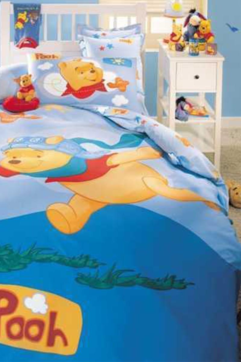 Taç Mavi DD-18706654 Disney Nevresim Takımı Winnie The Pooh Pilot