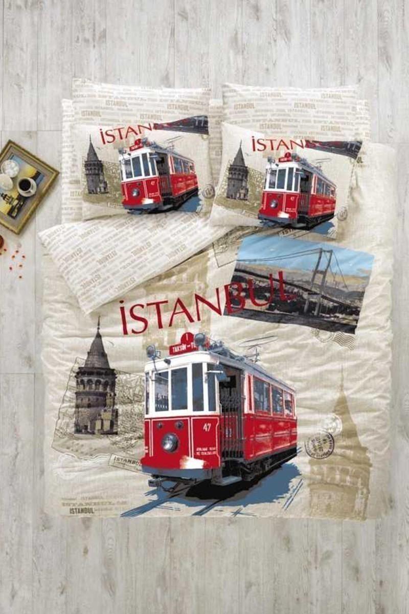 Evim Home Krem DD-34515062 Tek Kişilik Nevresim Takımı İstanbul