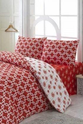 Evim Home Kırmızı DD-34515154 Complete Set Tek Kişilik Riba