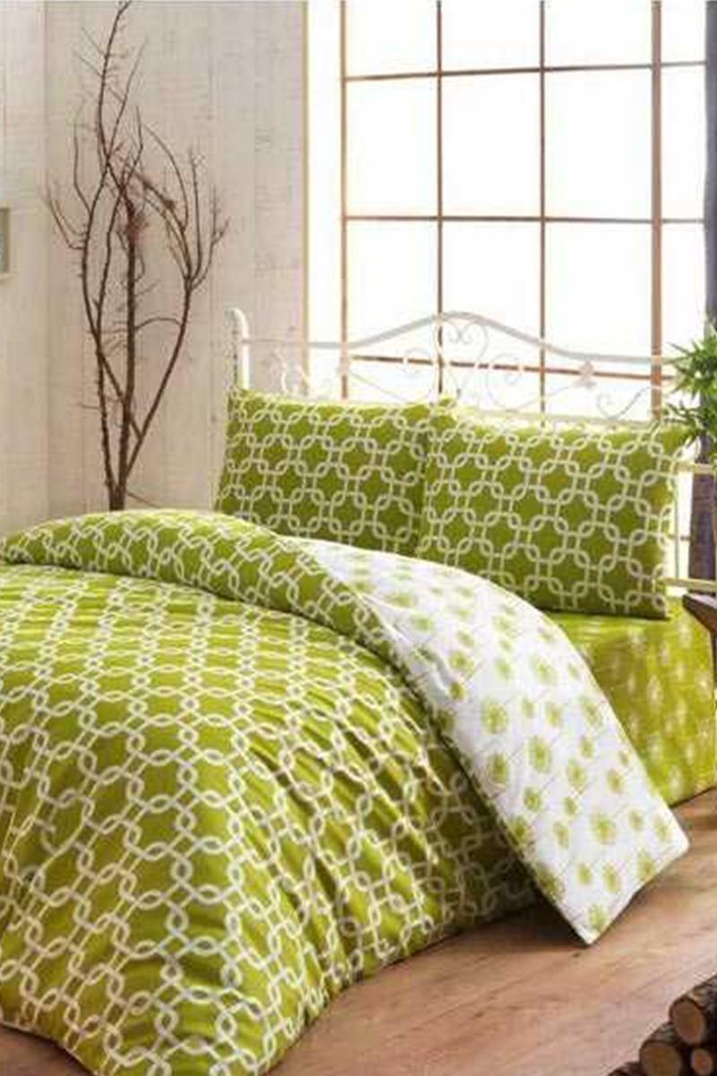 Evim Home Yeşil DD-34515155 Complete Set Tek Kişilik Riba