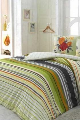 Evim Home Yeşil DD-34515168 Complete Set Tek Kişilik Krebs