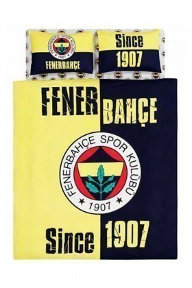 Taç Sarı-Lacivert DD-60049235 Nevresim Takımı Çift Kişilik Fenerbahçe 1907