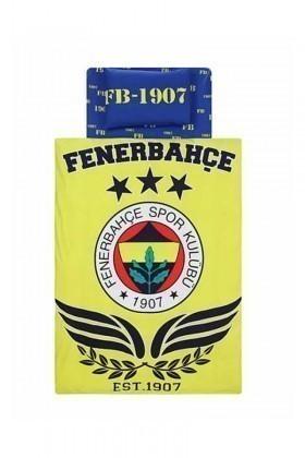 Taç Sarı-Lacivert DD-60065027 Nevresim Takımı Fb Parlayan Logo