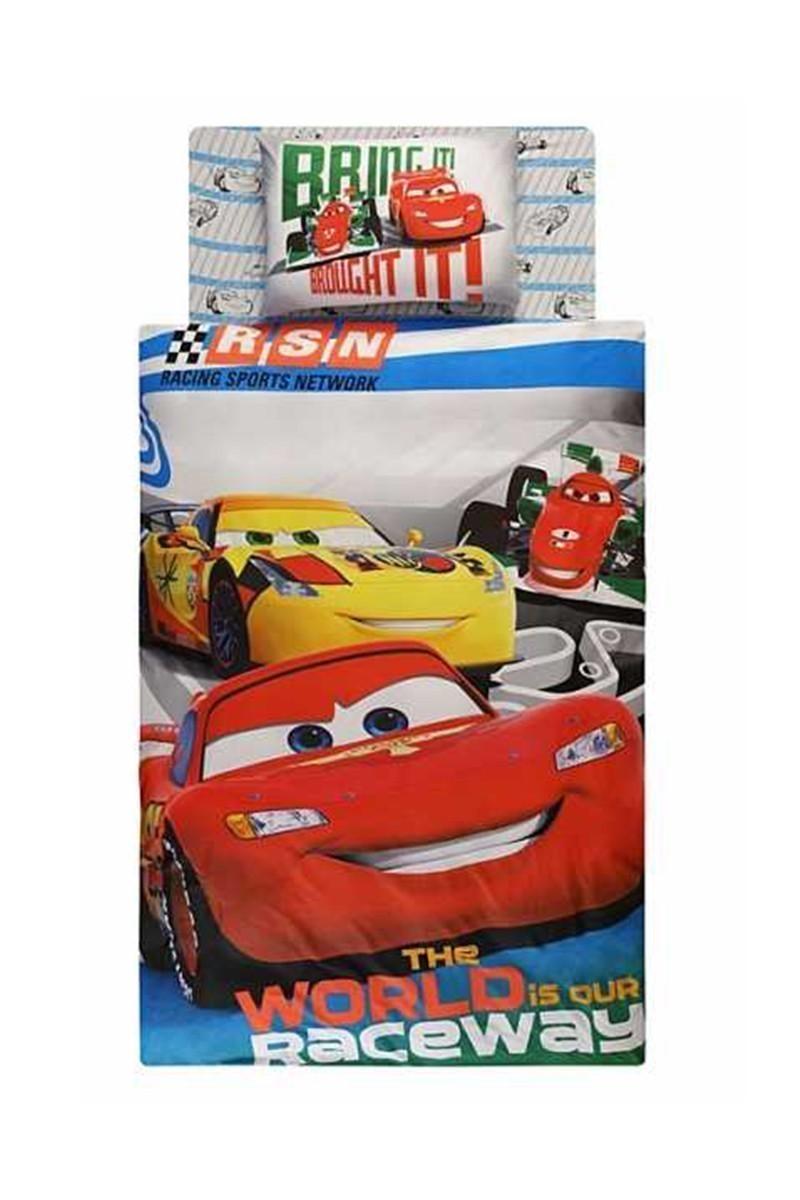 Taç Mavi DD-60066649 Nevresim Takımı Cars Racing