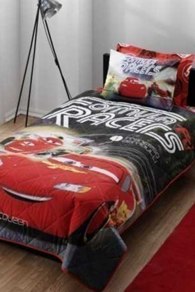 Taç Kırmızı-Siyah DD-60087913 Yatak Örtüsü Cars Formula