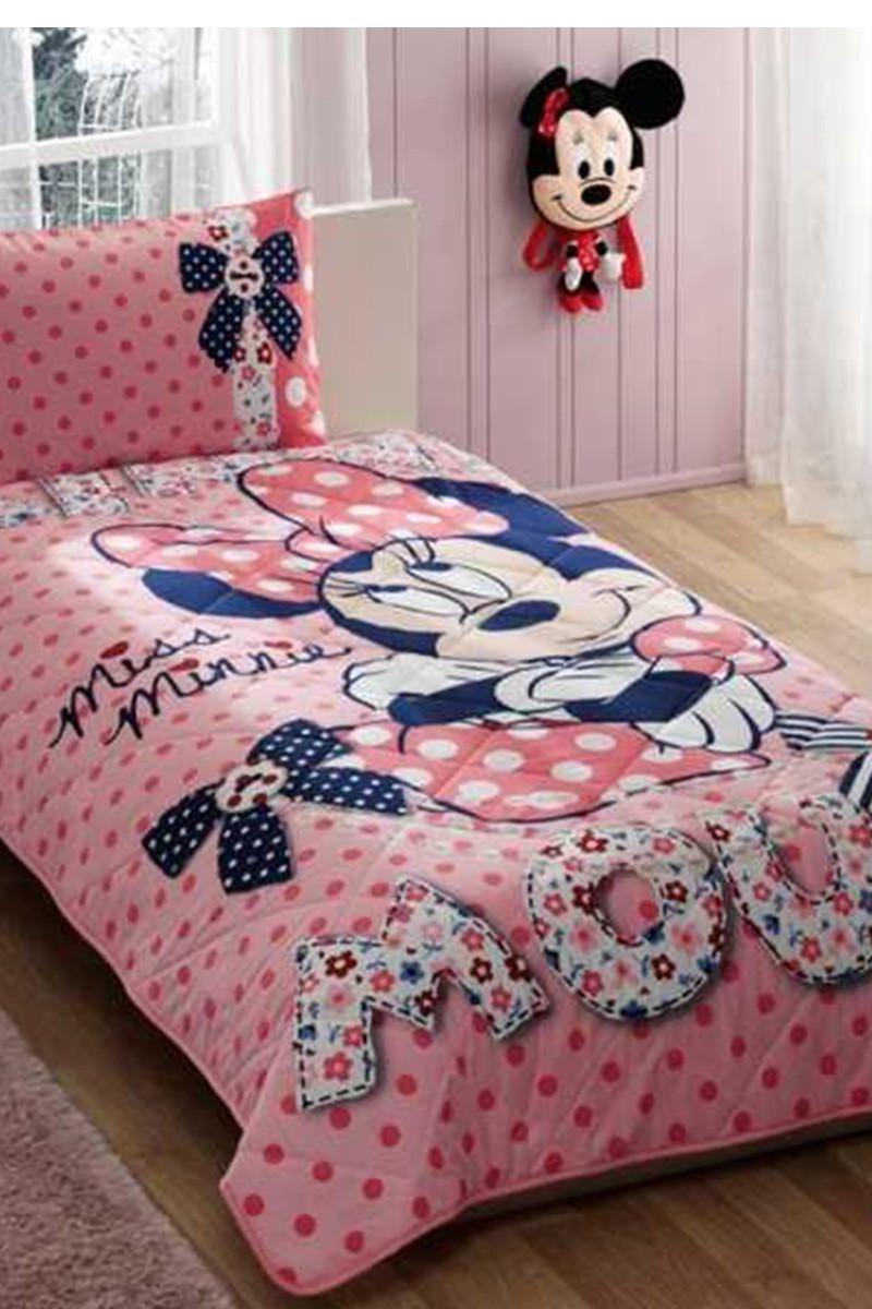 Taç Pembe DD-60088131 Yatak Örtüsü Minnie Dream