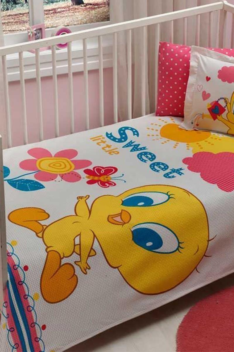 Taç Beyaz DD-60090981 Bebek Pike Takımı Tweety Little Baby