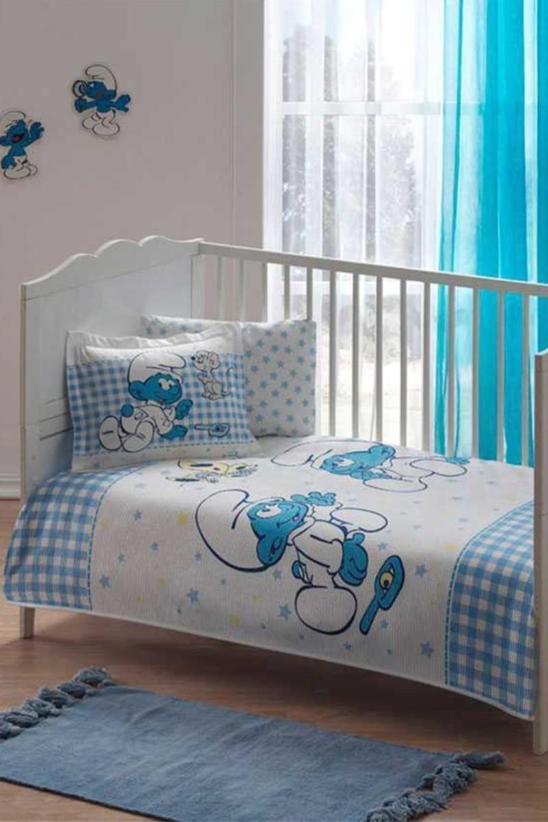 Taç Beyaz DD-60090992 Bebek Pike Takımı Şirinler Toys
