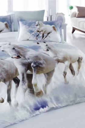 İyi Geceler İstanbul Beyaz DD-89012001 3d Çift Kişilik Nevresim Takımı Cool