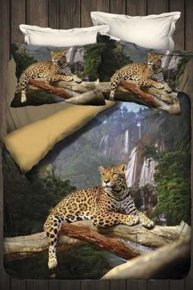 İyi Geceler İstanbul Vizon DD-89012005 3d Çift Kişilik Nevresim Takımı Safari