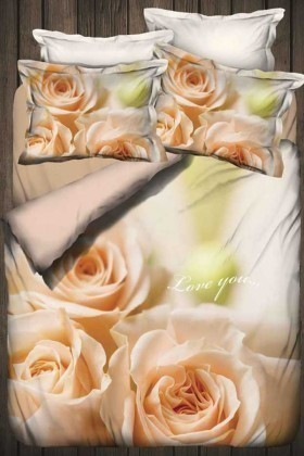 İyi Geceler İstanbul Vizon DD-89012007 3d Çift Kişilik Nevresim Takımı Love You