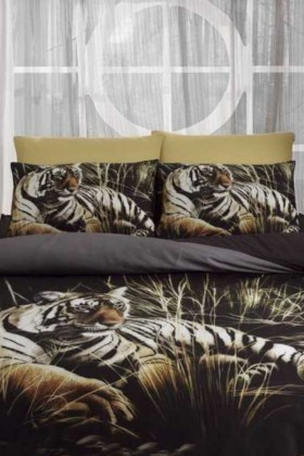 İyi Geceler İstanbul Siyah DD-89012010 3d Çift Kişilik Nevresim Takımı Tiger