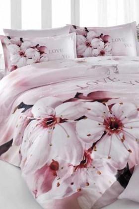 İyi Geceler İstanbul Krem DD-89012016 İyi Geceler İstanbul 3d Çift Kişilik Nevresim Takımı Sakura