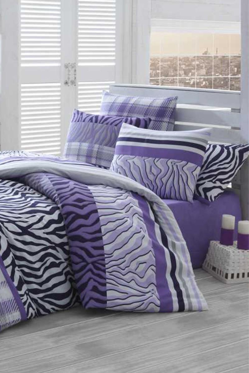 Evim Home Lila DD-89012165 Tek Kişilik Nevresim Takımı Zebra