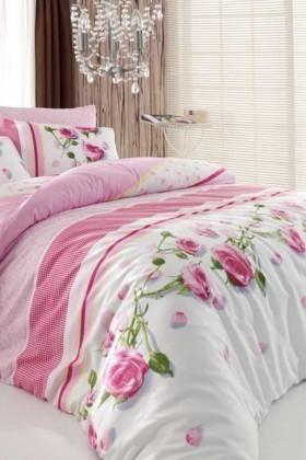 Cotton Life Ranforce Pembe DD-89012168 Tek Kişilik Nevresim Takımı Rosa