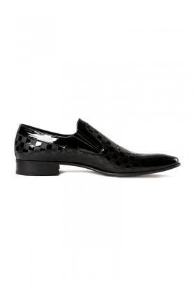 Wenetti Siyah WNT-114 Erkek Rugan Ayakkabı