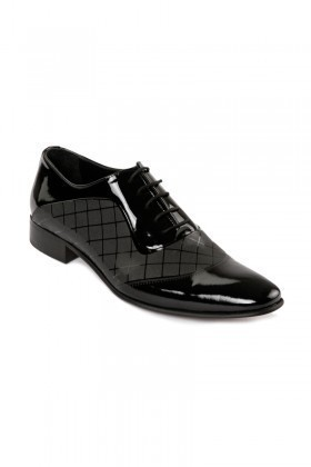 Lotex Siyah LTX-1172 Erkek Rugan Ayakkabı