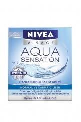 Visage Aqua Sensatıon Nemlendirici Bakım Kremi Normal-Karma 50Ml