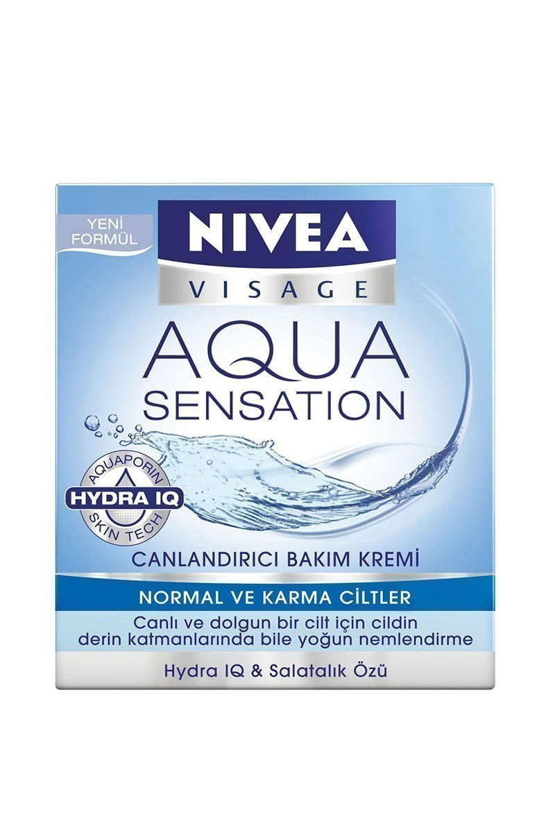 Nivea 4005808180332 Visage Aqua Sensatıon Nemlendirici Bakım Kremi Normal-Karma 50Ml