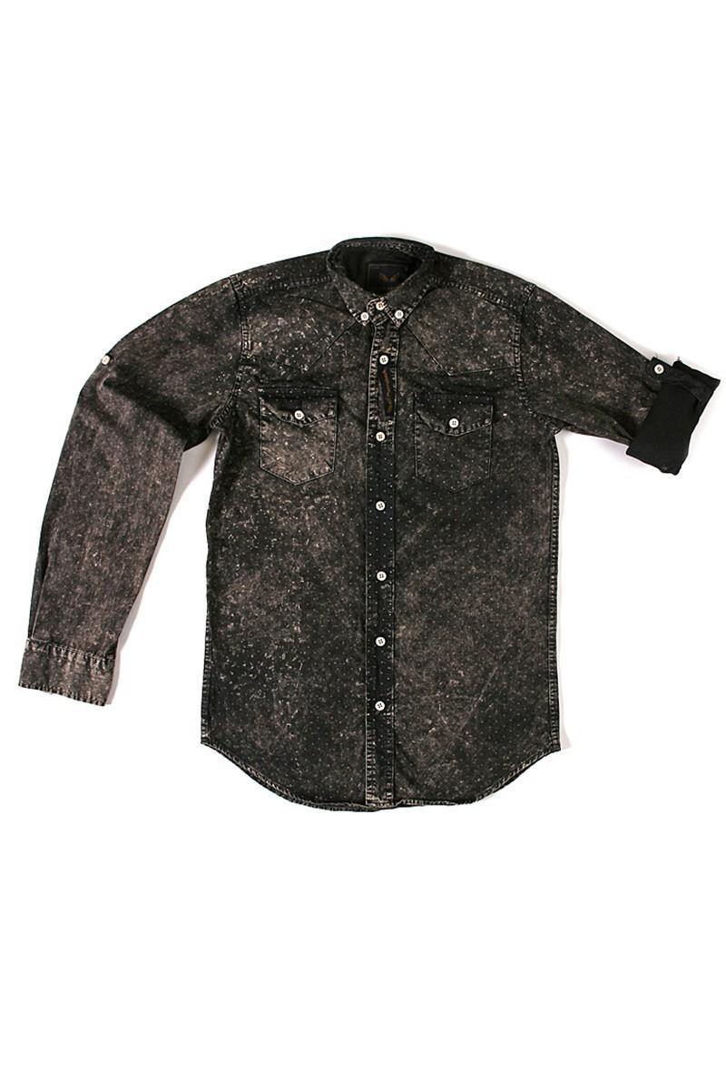 Marrakech Siyah MR-013 Erkek Gömlek Slimfit