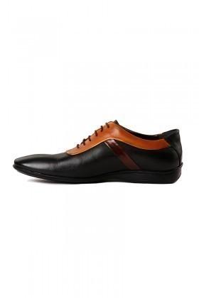 Pandew Siyah-Taba PNDW-1678 Hakiki Deri Erkek Ayakkabı