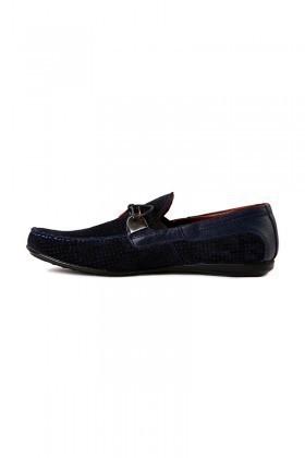 Pandew Lacivert PNDW-KT Hakiki Deri Erkek Ayakkabı