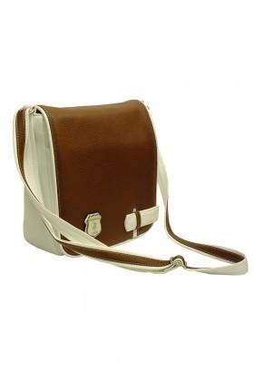 California Polo Club Beyaz-Camel 3YZ238213864BCA Bayan Çanta