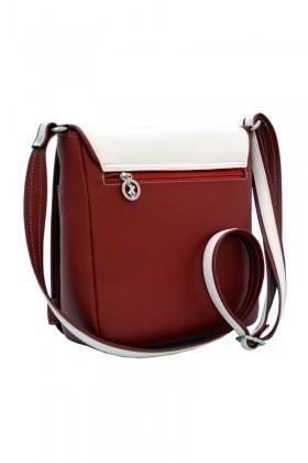California Polo Club Kırmızı-Beyaz 3YZ238213864KBY Bayan Çanta