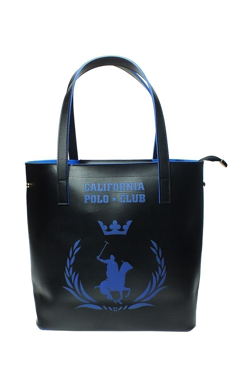 California Polo Club Siyah-Mavi 4YK51284053SHM Bayan Çanta