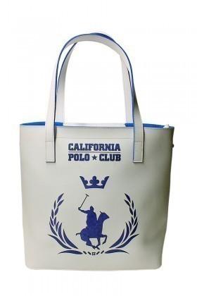 California Polo Club Beyaz-Mavi 4YK51284053BMV Bayan Çanta
