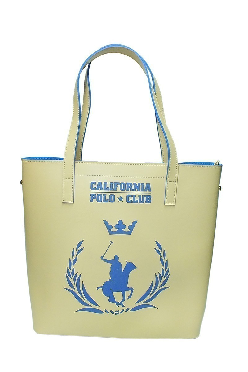 California Polo Club Beyaz-Mavi 4YK51284053006 Bayan Çanta