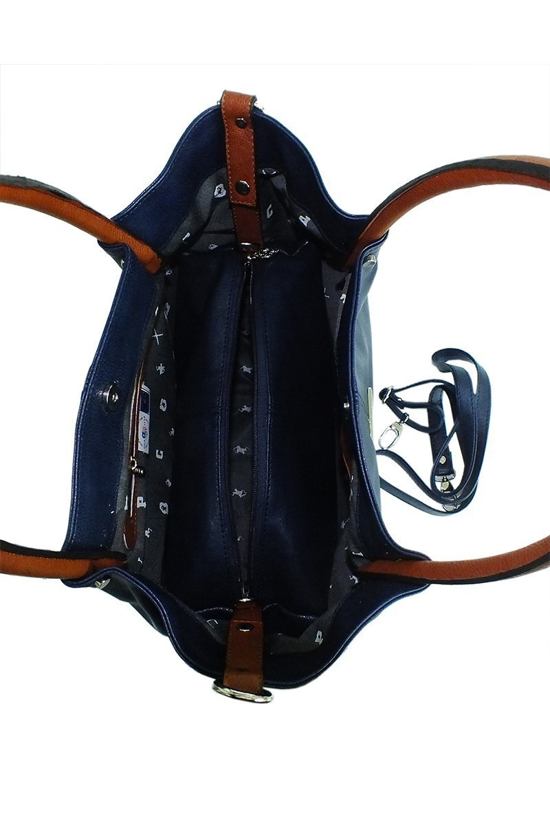 California Polo Club Lacivert-Taba 4YK24928405207 Bayan Çanta