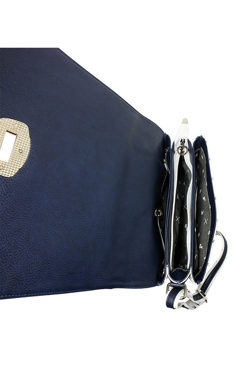 California Polo Club Beyaz-Lacivert 4KK243284004BZP Bayan Çanta