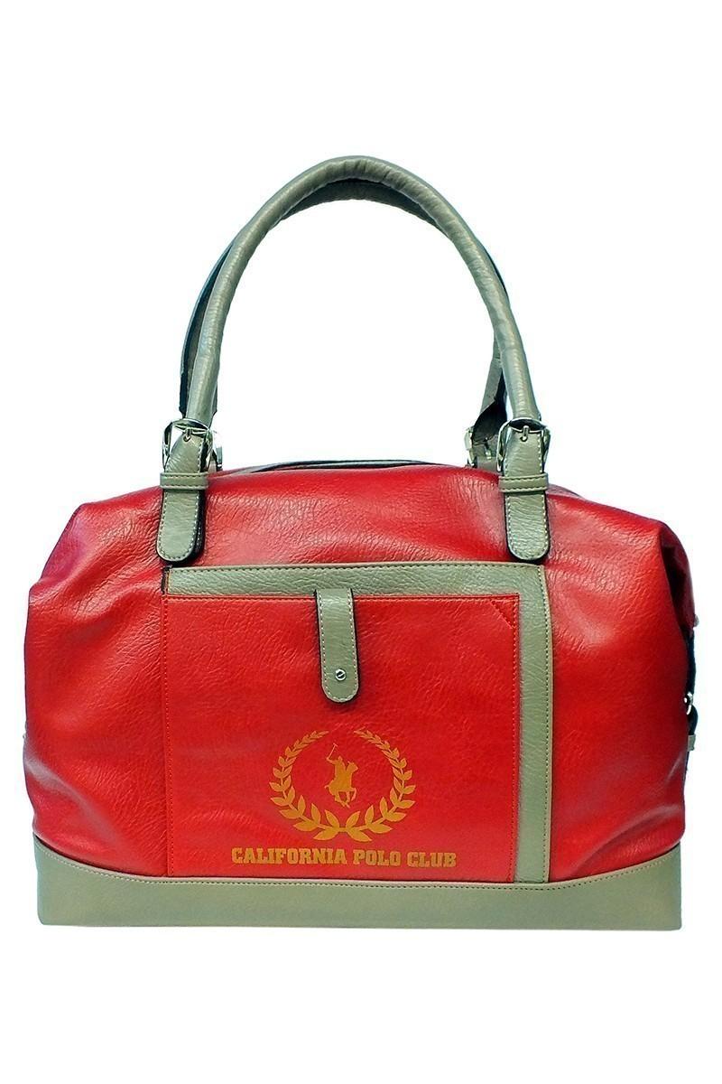 California Polo Club Kırmızı-Vizon 4KK090284041nnn Bayan Çanta