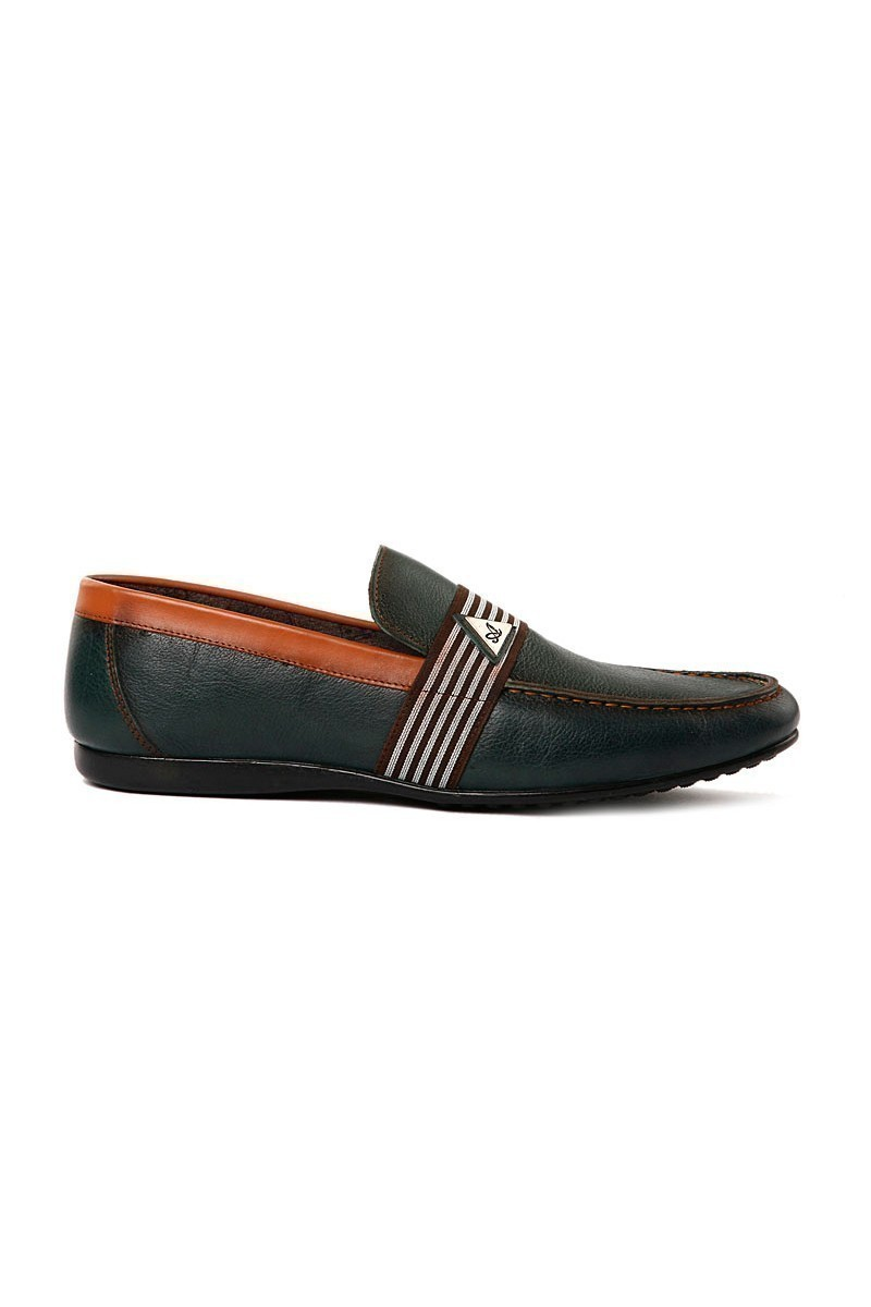 Pandew Yeşil-Taba PNDW-205 Hakiki Deri Erkek Ayakkabı