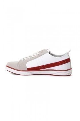 Laguna Beyaz-Bordo LGN-033 Erkek Ayakkabı