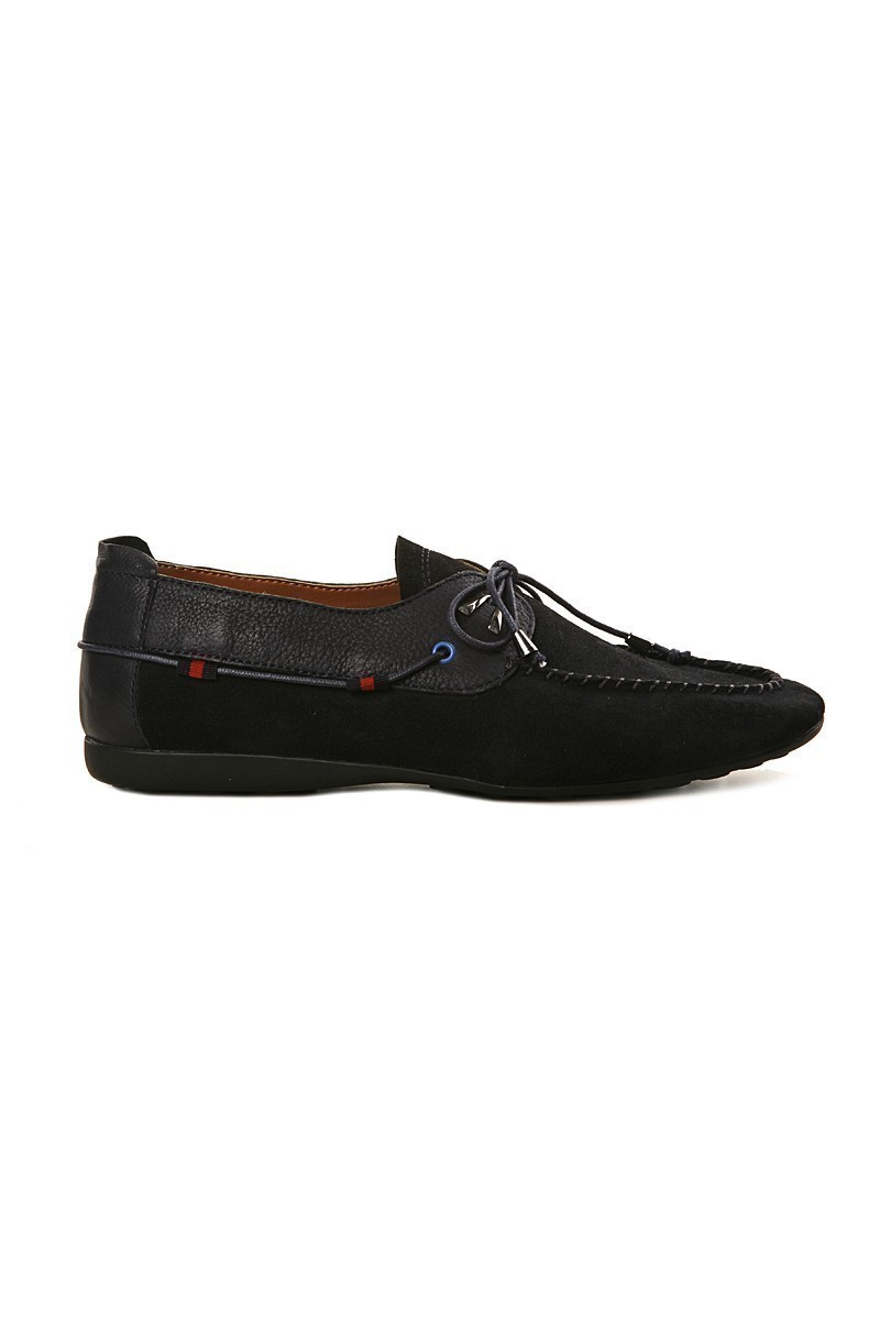 Pandew Lacivert PNDW-SY-700 Hakiki Deri Erkek Ayakkabı