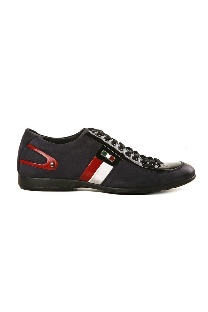Pandew Lacivert PNDW-2107 Hakiki Deri Erkek Ayakkabı