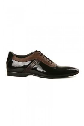 Pandew Siyah-Kahverengi PNDW-1678 Hakiki Deri Erkek Ayakkabı