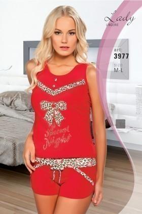 Lady Lingerie Kırmızı LL-3977 Bayan Pijama