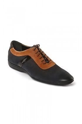 Pandew Lacivert-Taba PNDW-1678 Hakiki Deri Erkek Ayakkabı