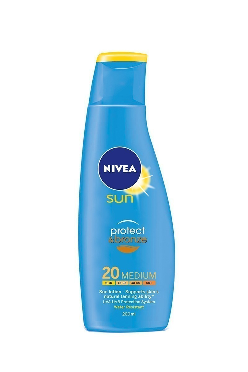 Nivea 4005808432394 Güneş Protect Bronz Lotion SPF20 200ml