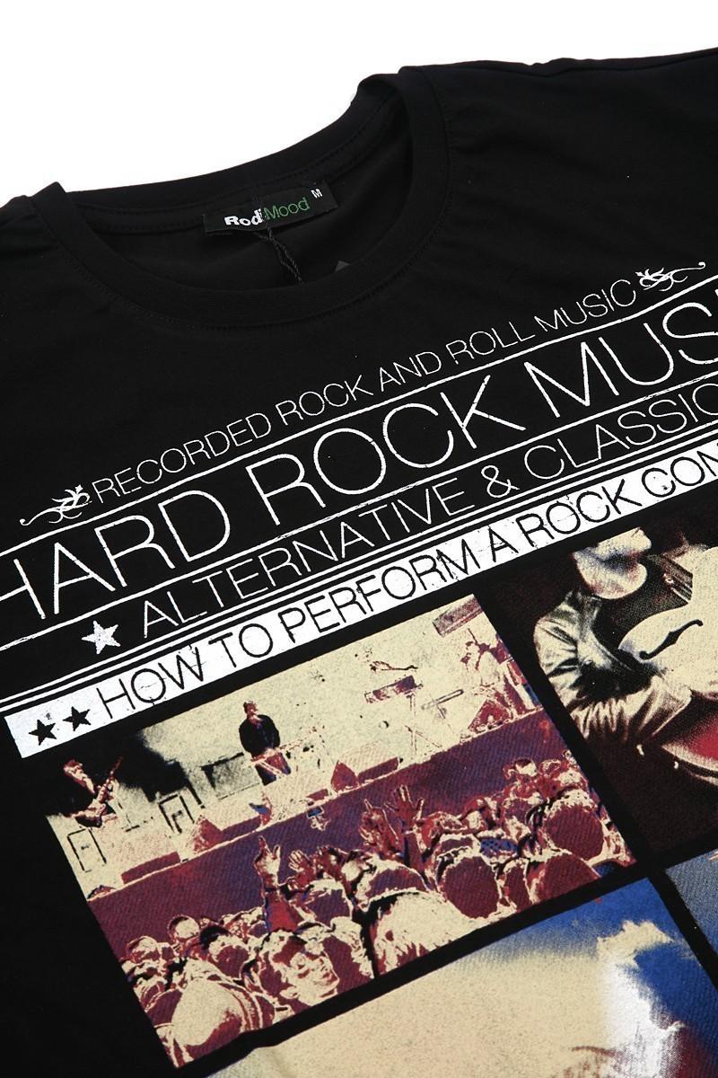 Rodi Siyah RDE-HARD-ROCK Erkek Tişört