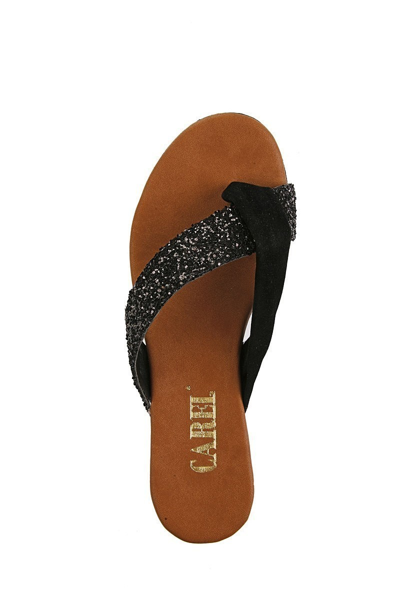 Carel Siyah CRL-2109 Dolgu Topuk Bayan Terlik