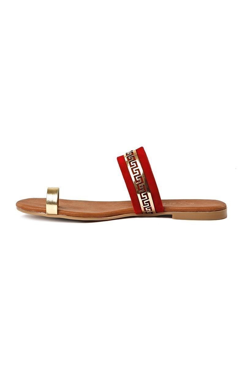 Carel Kırmızı CRL-1071 Bayan Terlik