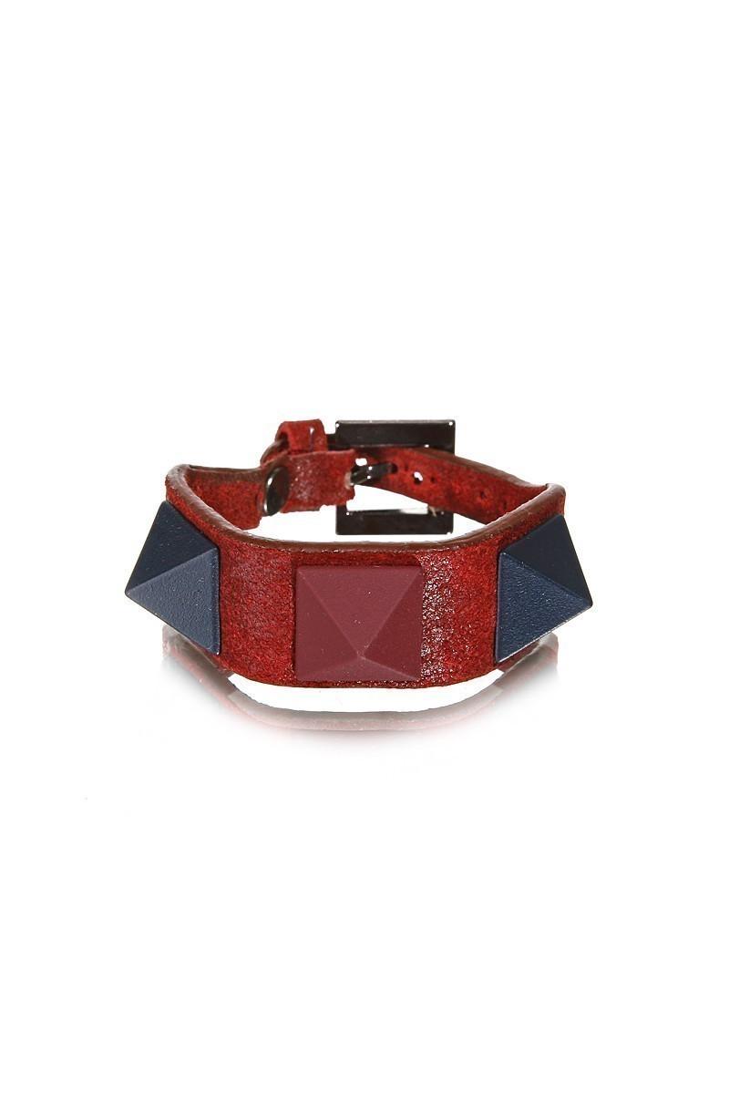 Divax Kırmızı DMBPUS516-KIR Mat Boyalı Piramit Bileklik