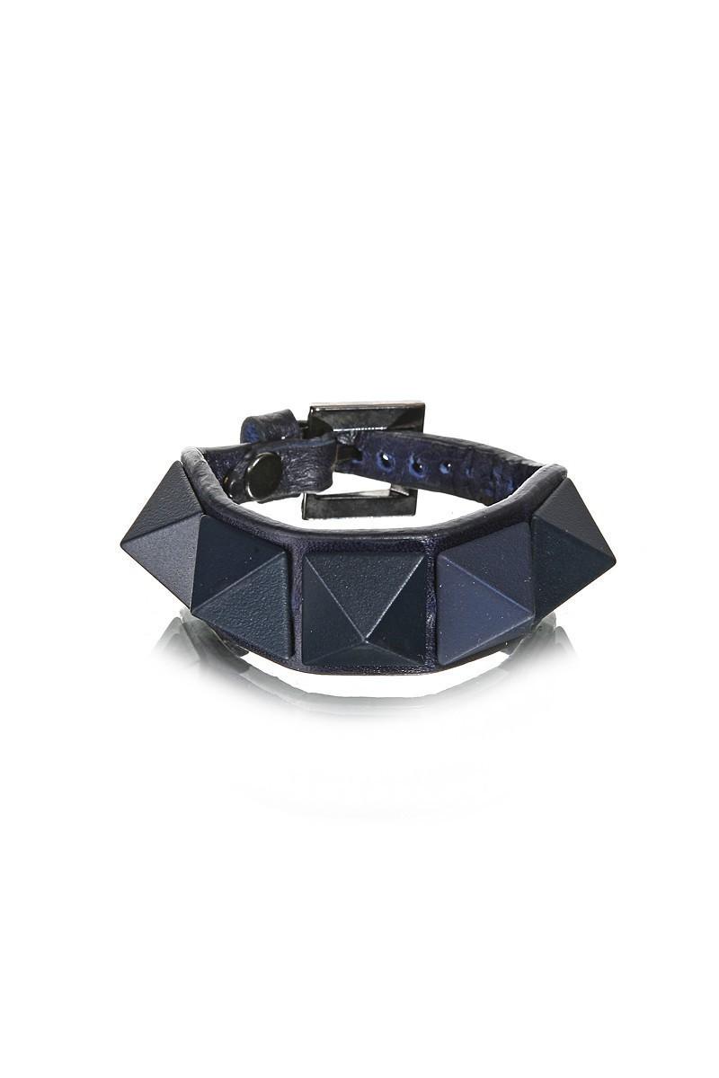 Divax Lacivert DMBPBS515-LACI Mat Boyalı Piramit Bileklik